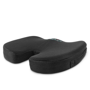 Elephix Premium Orthopedic Coccyx Large Sitting Cushion Plush High Density Foam Core Cooling Breathable Outer Cover Non Slip Bottom