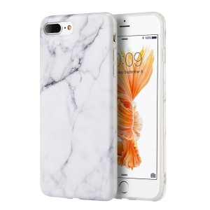 """iPhone 8 Plus / 7 Plus Case, Insten [Marble Pattern] Ultra Slim Lightwight Soft TPU Rubber Candy Skin Anti Slip Case Cover For Apple iPhone 8 Plus / 7 Plus 2016 (5.5"""" ), White"""