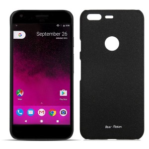 Slim Case for Google Pixel Case - Bear Motion Premium Back Cover for Google Pixel - Sandy (Black)