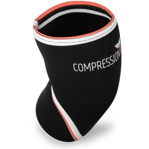 Knee Sleeve Brace - 7mm Neoprene Compression Knee Sleeve - Highest Quality Knee Support For Weightlifting, Powerlifting, Squats - No Risk, SureFit Guarantee!