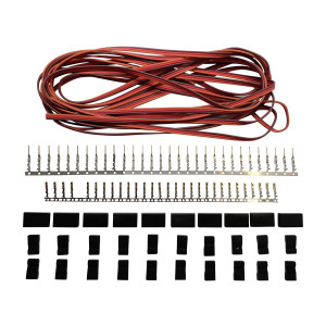 JR Style Servo Extension Kit W/ 10 Pairs Of Connector Plugs and 15' 22Awg Servo Wire - Apex RC Products #1226