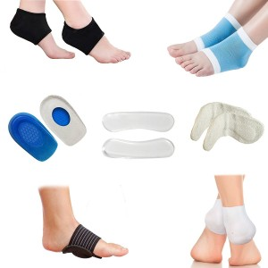 Plantar Fasciitis Foot Compression Sleeve Package - Ankle and Foot Pain Relief Socks - Heel and Arch Support, Heel Pads, Heel Cups And Grips, Shoe Inserts and Insoles For Metatarsal Pain - (Pack of 14)
