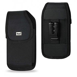 Iphone 8 / 7 / 6 / 6S Reiko Phone Black Rugged Holster Metal Clip Pouch ( Fits Hybrid / Otterbox Commuter / Defender / Lifeproof ) and Zoomazig Stylus