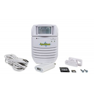 Motion Activated Sound Player, Long Playback Time, Memory Card Included, Recordable – Perfect for Independent Living, Point of Sale Advertising, Door Greeter, Exhibits, Tradeshows, Entry Alert