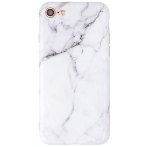 Iphone 7 Case, IiEXCEL IMD Frosted Series White Marble Pattern Anti-scratch Thin Soft Flexible TPU Case for Apple Iphone 7 [4.7 inch Display] [Color 15]