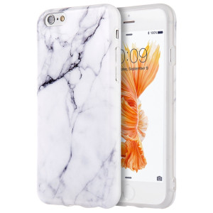 """iPhone 6S Case, Insten [Marble Pattern] Ultra Slim Lightwight Soft TPU Rubber Candy Skin Anti Slip Case Cover For Apple iPhone 6/ 6S (4.7"""" ), White"""
