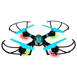 2.4 GHz Blue Drone with 360° Stunt-Flip Action, LED Lights, 6-axis Gyro and Headless Mode