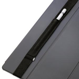 "Stylus Sling Apple Pencil holder with USB Adapter pocket - ""Stitch""  version (12.9-inch, black-stitch)"