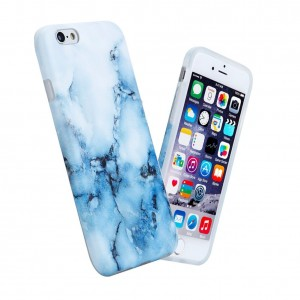 """iPhone 6 6s Case For Girls, Anti-Scratch Anti-Fingerprint, Shock Proof Flexible Soft TPU Case For iPhone 6 / 6s 4.7"""" ,White Blue Marble"""
