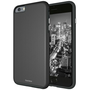 StarkAce iPhone 6s Case, Protective Slim Fit for Apple 6 and 6s Cell Phones - Thin Lightweight Matte Smart Phone Cover - Shock Proof TPU and Scratch Resistant Shell Cases for Dual Layer Protection - Black