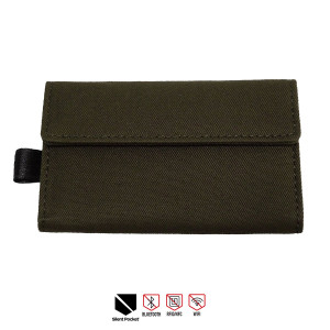Silent Pocket KEY FOB GUARD Protector For Wireless Car Keys - RFID Blocking Faraday Cage (Olive)