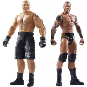 WWE SummerSlam Brock Lesnar and Randy Orton Action Figure (2 Pack)