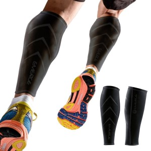 Calf Compression Sleeve by Emerge - For Men and Women - Leg and Shin Splint Compression Sleeves for Runners, Shin Splints and Blood Circulation