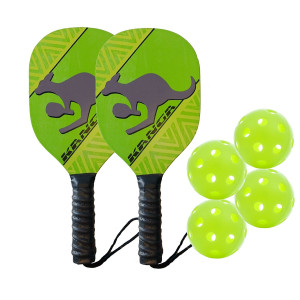 Kanga Wood Pickleball Paddle and Bundles (3 Options: Single Paddle, 2 paddle/4 ball Bundle, 4 Paddle/6 Ball Bundle)