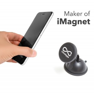 [Maker of iMagnet]The Original InfiniApps Cradle-less Universal Car Phone Windshield Dashboard Mount Holder for iPhone and Plus, Galaxy and Note