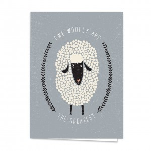 Sheepishly Great Note Card Pack - Set of 18 cards - blank inside with envelopes