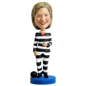 Hillary Clinton Striped Prison Pantsuit Bobblehead