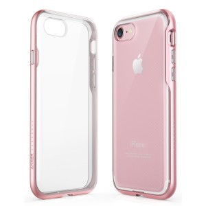 iPhone 8 Case, iPhone 7 Case, Anker Ice-Case Lite Clear Protective Slim Case Cover Soft TPU Back with Hard Bumper Frame and Enhanced Grip for Apple iPhone 8 / 7 [Support Wireless Charging] (Rose Gold)
