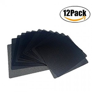 ThreeBulls 12 Pcs 140mm PVC Black PC Cooler Fan Dust Filter Dustproof Case Cover Computer Mesh