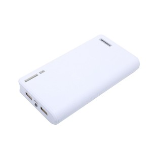 20000mAh Portable Charger External Battery Power Bank for iPhone 6 6S Plus 5S, iPad, Samsung Galaxy, Smart Phones and Tablets (White)