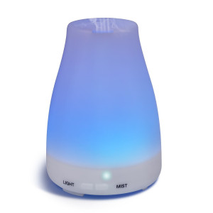 Homeweeks 100ML Auto Off Ultrasonic diffuser LED Colorful Night-Ligting Aroma Mist Maker HomeandOffice Essential (D)