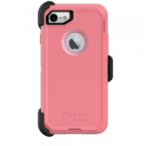 OtterBox Defender Series Case and Holster for Apple iPhone 7 (ONLY) - Rosmarine Way (Rosmarine/Pipeline Pink)