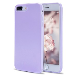 iPhone 8 Plus Case for Girls, iPhone 7 Plus Case, FGA Shock Absorption Anti-scratch Slim-Fit Solid Color Design Soft TPU Gel Protective Case for iPhone 8 Plus (2017), iPhone 7 Plus (2016) (Lavender)