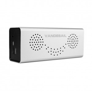 Portable Speaker, VANDESAIL Wireless Speaker Bluetooth 4.0 10W Powerful Sound with Built-in Microphone (Silver)