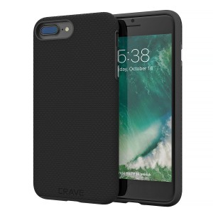 iPhone 8 Plus Case, iPhone 7 Plus Case, Crave Dual Guard Protection Series Case for Apple iPhone 8 / 7 Plus (5.5 Inch) - Black