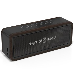 Symphonized NXT 2.0 Bluetooth Wireless Portable Speaker | Dual-Driver Audio Player | AUX Cable Included for Wired Listening | Universal Compatibility - Black