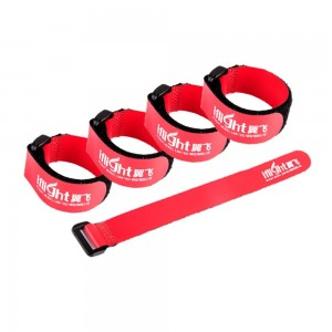 iFlight RC LiPo Battery Tie Down Rubberized Straps Non-Slip 20x200mm for FPV Racing Drone Quadcopter Red (pack of 5pcs)