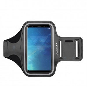 Galaxy S8 Armband, JandD Sports Armband for Samaung Galaxy S8, Key holder Slot, Perfect Earphone Connection while Workout Running - Black