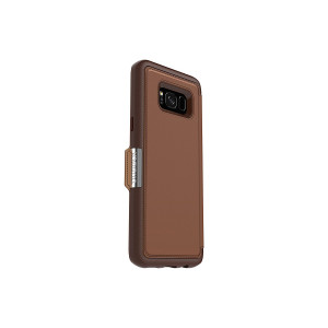 OtterBox STRADA SERIES for Samsung Galaxy S8+ ONLY - Retail Packaging - BURNT SADDLE (BURNT SADDLE/CHAPSHAIR LEATHER)