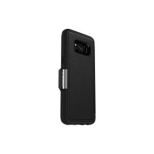 OtterBox STRADA SERIES for Samsung Galaxy S8 - Retail Packaging - ONYX (BLACK/BLACK LEATHER)