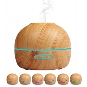 Ledsniper 300ml Cool Mist Humidifier Ultrasonic Aroma Essential Oil Diffuser for Office Home Bedroom Living Room Study Yoga Spa- 4 Timer Settings