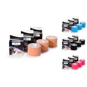 "Professional Grade  Kinesiology Tape 2""  x 16.5', 3-Pack"