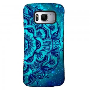Galaxy S8 Case, ZUSLAB Pattern Design, Shockproof Armor Bumper, Heavy Duty Protective Cover For Samsung Galaxy S8 (Blue Mandala)