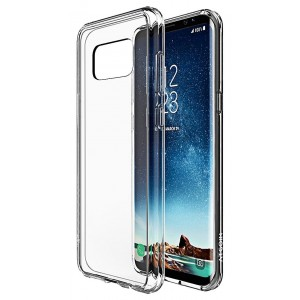 ATGOIN Galaxy S8 case, [Scratch Resistant] Crystal Clear Slim Fit Flexible TPU Gel Rubber Soft Silicone Protective Case