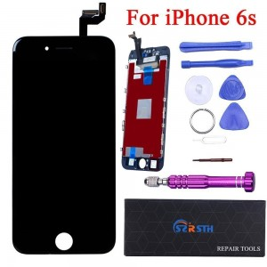 Black LCD for iPhone 6S 4.7 inch - RSTH LCD Screen Touch Digitizer Replacement with 3D Touch Frame and Repair Tools Kit Display
