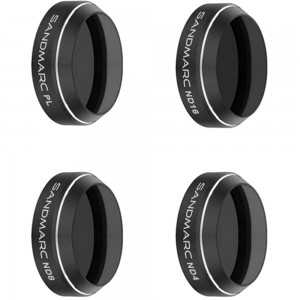 SANDMARC Aerial Filters for DJI Mavic Pro and Platinum - ND4, ND8, ND16 and Polarizer Filter Set
