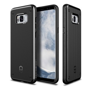 Galaxy S8 Plus Case Patchworks Flexguard Case Black for Samsung Galaxy S8 Plus - Slim Fit Protective Case Extreme Cover with Poron XRD