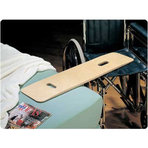"""Sammons Preston Bariatric Transfer Board for Wheelchair Users, Wooden Slide Board with Handles, 35""""  Long and Strong Wood Slider Board with 600 lbs. Capacity"""