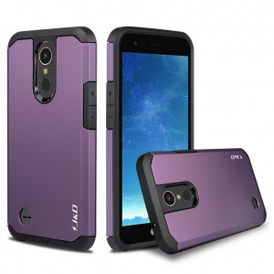 LG K20 V Case, JandD [ArmorBox] [Dual Layer] Hybrid Shock Proof Protective Rugged Case for LG K20 V, LG K20 Plus, LG Harmony, LG K10 (Release in 2017), LG V5, LG Grace - Purple