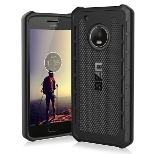 UAG Motorola Moto G5 Plus [5.2-inch screen] Outback Feather-Light Rugged [BLACK] Military Drop Tested Phone Case