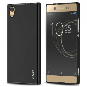 Xperia XA1 Ultra Case, JandD [Drop Protection] [Slim Cushion] [Lightweight Bumper] Shock Resistant Protective TPU Slim Case for Sony Xperia XA1 Ultra - Black