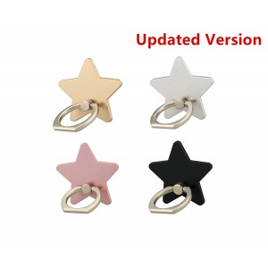 (4 pcs)LENO Cell Phone Holder,Star Phone Ring Kickstand,Universal 360 Rotation Cell Phone Finger Ring Grip for Iphone 7 7 plus SE 6 6S,Galaxy S6 S7 and Almost All Phones/Pad(4 Color Star)