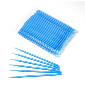 NSI 100 2mm Medium Touch Up Micro Brush Applicator for Detail Painting or Cleaning - Auto, Marine, Crafts, Cosmetics - Blue