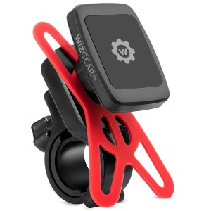 Magnetic Bike Mount, WizGear Universal Magnetic Bicycle and Motorcycle Handlebar Phone Holder for Cell Phones and GPS with Fast Swift-Snap Technology, Magnetic Bike Phone Holder