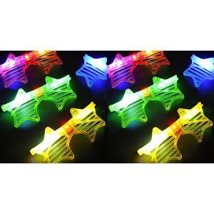 Lvnv Toys @ Party Favors Rave 12ct LED Light Up Sunglasses - Assorted Flashing Lights (Star)