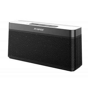 Monpos (Sport 5) Bluetooth Speaker with Built-in Mic,16W Dual-Driver, Portable Wireless Speaker with Superior Stereo Sound, rich bass. (SP5 Black)